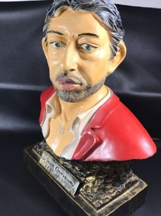 Large bust statue of serge GAINSBOURG - 54 cm