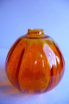 Chris Lanooy (Leerdam) - Orange vase Juliana