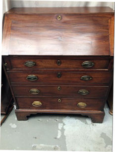 A Georgian mahogany desk - early 19th century