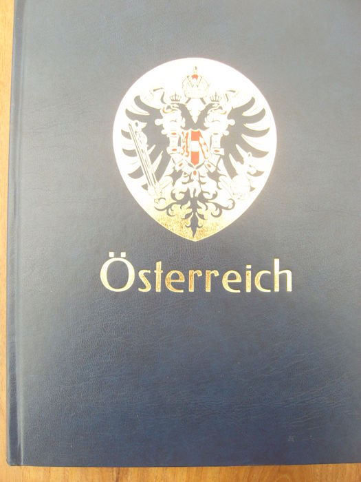 Austria from 1850 – Batch in a thick stock book with back of the book.