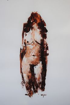 Original work; Terence Kelly - Figurative to abstract Nude - 2017