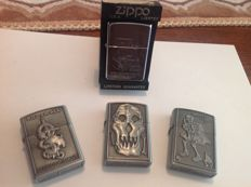 4 Zippos very beautiful from own collection approx 1980