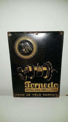 Torpedo Vrijwielremnaaf advertising sign (in French)