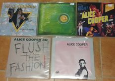 Alice Cooper collection of 5 LPs