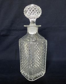Baccarat crystal large perfume bottle,  Marie Louise pattern - France, circa 1900