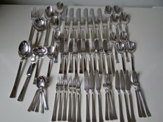 A 6-person, 65-piece cutlery, Christofle, model Concorde,