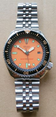 Seiko 7002 diver's watch, 42 mm, 1985–1995.