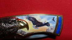 Franklin mint jachtmes met etui / collectors knife eagle with case