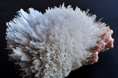 Pink and white Scolecite crystals and Laumontite - 12.9 X 9.6 X 8.5 cm - 589 gm
