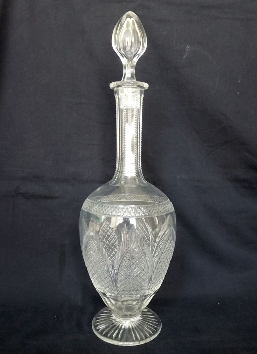 St Louis crystal wine decanter,  France, circa 1900