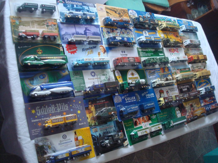 Collection - brewery trucks, advertising trucks, many vintage trucks and special editions, in original packaging, 82 parts - 1995/2006