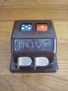 Vintage ROVO desk dice toy machine made of bakelite 30s/40s