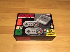 Super Nintendo Classic Mini, Brand New, never opened, Comes with 21 Installed games like Mario 1 & 2, Zelda, Megaman X etc.
