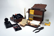 Original Polizei Spurensicherungskoffer - police forensic kits - forensic suitcase - West-Germany / W-Germany / Cologne