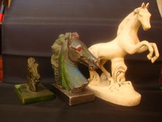Three - Horse Ceramic Sculptures - 1950/70 - unsigned