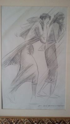 Drawing on paper - signed Marcello Dudovich