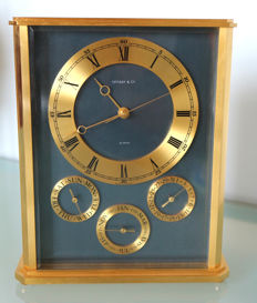 Tiffany & Co. Table clock, around 1980-1990