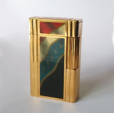 S.T Dupont lighter - FRENCH REVOLUTION 1789/1989 collection - gold plated/Chinese lacquer - Limited edition