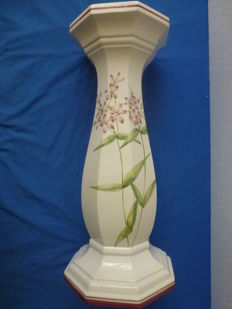 Large hand-painted ceramic - porcelain column - 57 cm - Italy - 2nd half of the 20th century