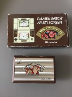 Game & Watch - Donky Kong 2 - In original box with all the documents included.