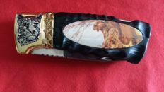 Franklin mint hunting knife, collector's knife