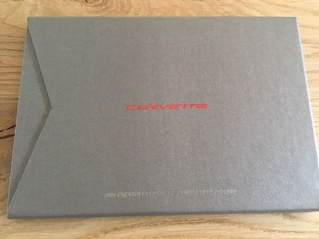Chevrolet Corvette GM press folders press kits 2004 2005