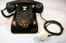 Ericsson Rijen bakelite dial telephone of the PTT, the Netherlands, 1959