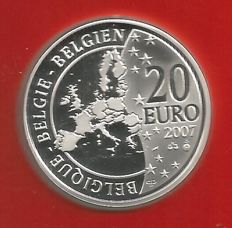"Belgium – 20 Euro 2007 ""Tintin"" in blister packaging"