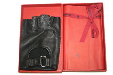 Original Ferrari gloves XXL, black leather with box