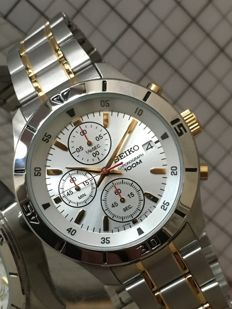 "SEIKO ""Chronograph"" – men's wristwatch – 2017 -- used, in mint condition."