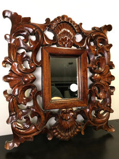 Beautifully decorated Venetian mirror with openwork ornament-approx. 1975, Italy
