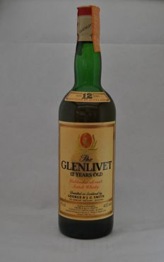 The Glenlivet 12 years old -  1980s - 43%, 75 cl
