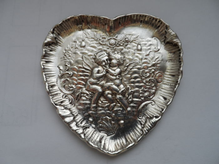 Antique Silver Small Dish or Plate -  Sweden -  Circa. 1705 - Rare