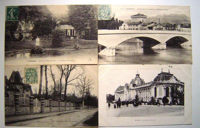 Lot consisting of 125 old French postcards from c. 1900