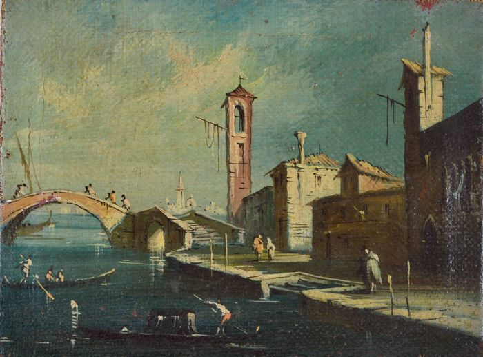 Follower of Giacomo Guardi. (1764 - 1835) A Venetian landscape.