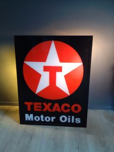 Texaco Motor oils - Double sided - light advertisement - lightbox - XL Dealersign