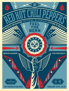 Shepard Fairey (OBEY) - Feel the Bern with the Red Hot Chilli Peppers