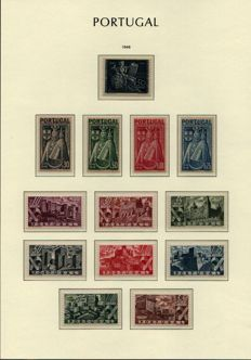 Portugal 1946/1950 -- Selection of series on album sheets