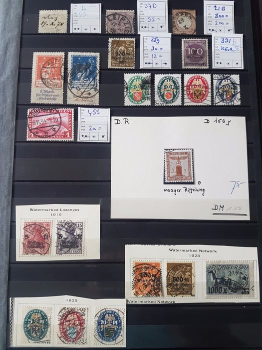 German Empire – Selection better stamps, including inspected