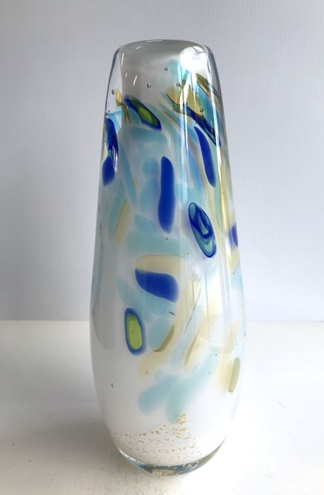 Maxence Parot - Unique vase in opaline (signed/dated)