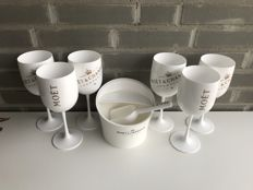 Moët & Chandon Ice Imperial Champagne set of 6 glasses and 1 ice bucket including ice scoop