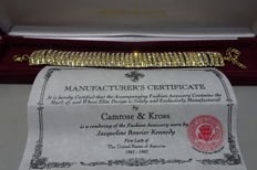 CAMROSE & KROSS - JACKIE KENNEDY -Goldplated Bracelet with swarovski crystals in Box & Certificate of Authenticity