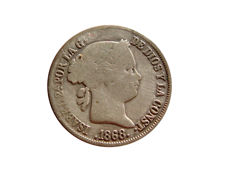 Spain - Isabel II (1833–1868), 40 cents in silver 1868 - Madrid
