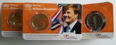 Netherlands – 50 euro cent 2017 'Willem Alexander 50 years' Coin cards – 25 pieces