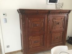 Flemish oak sideboard with space for a safe - c. 1890