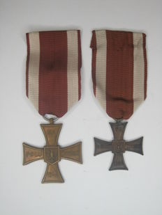 Polish cross of Valour, medal for Deeds of valor and courage on the field of battle in World War II