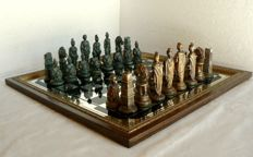 """Roman Empire"" chess Board with engraved mirror"