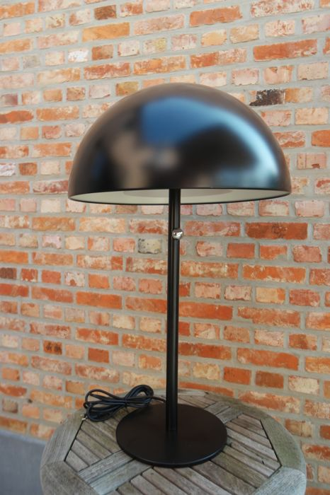 Designer unknown - Black mushroom lamp with dimmer