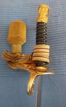 HE sword used by Greek Officers,Spanish made