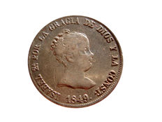 Spain - Isabelle II (1833 - 1868), 40 cents from 1849 - Madrid